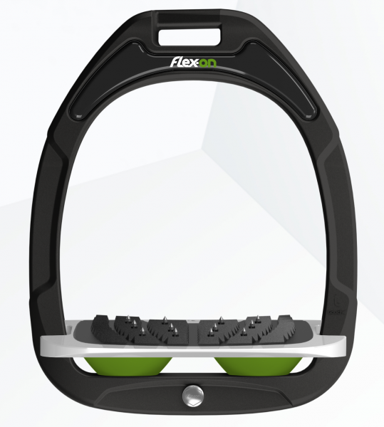 Flex-on Steigbügel Green Composite-schwarz/grau/grün
