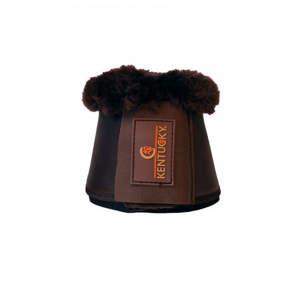Kentucky Leder Glocken mit Lammfell braun-braun