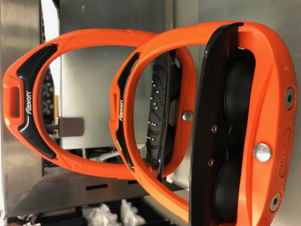 Flex-on Steigbügel Green Composite-orange/schwarz/schwarz