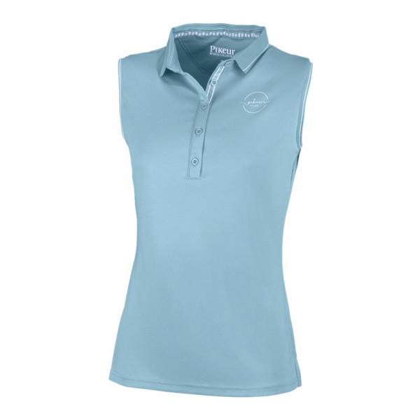 Pikeur Damen Funktionspolo ohne Arm JARLA - Aquamarine