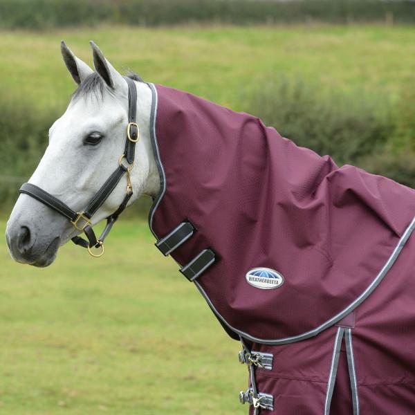 Weatherbeeta Comfitec Plus Dynamic Halsteil - 220g - maroon/grey/white