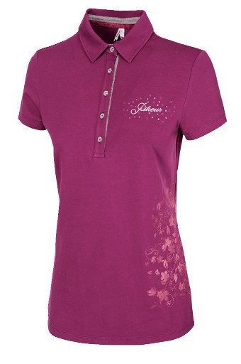 Pikeur CHARLENE DOB Poloshirt - Grapevine - Gr. 38