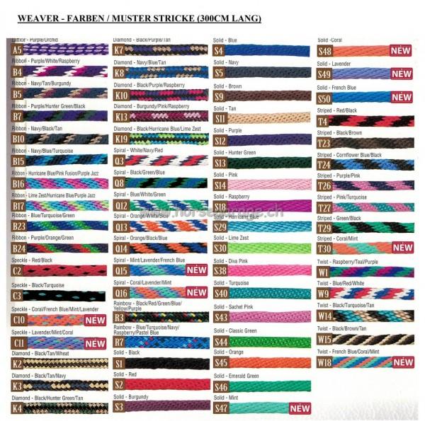 Weaver Führstrick Messing - Diverse Farben