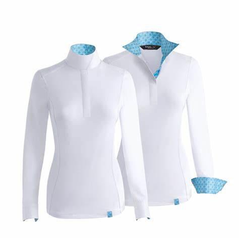 Tredstep SOLO Competition Shirt Langarm Aqua